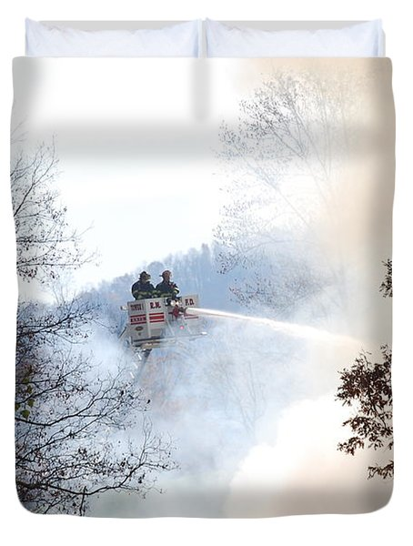 Up In Smoke Duvet Cover by Eric Liller
