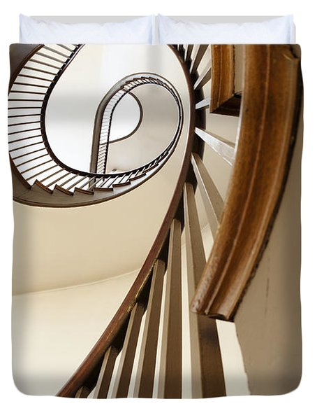 Up Stairs Duvet Cover by Alexey Stiop