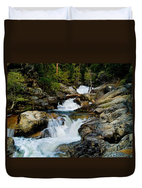Up The Creek Duvet Cover by Bill Gallagher