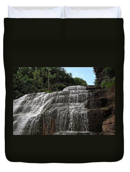 Up The Falls Duvet Cover