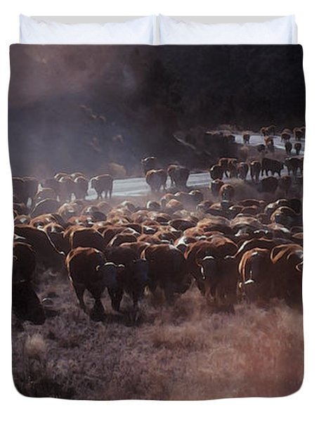 Up The Road Duvet Cover by Jerry McElroy