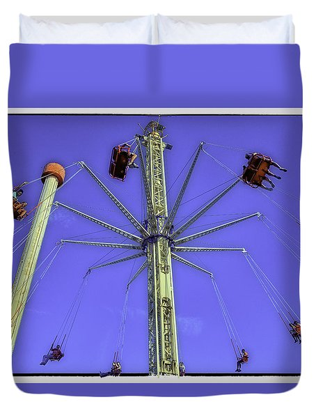 Up Up And Away 2013 - Coney Island - Brooklyn - New York Duvet Cover by Madeline Ellis