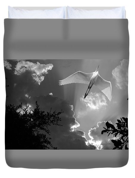 Up Up And Away Bw Duvet Cover