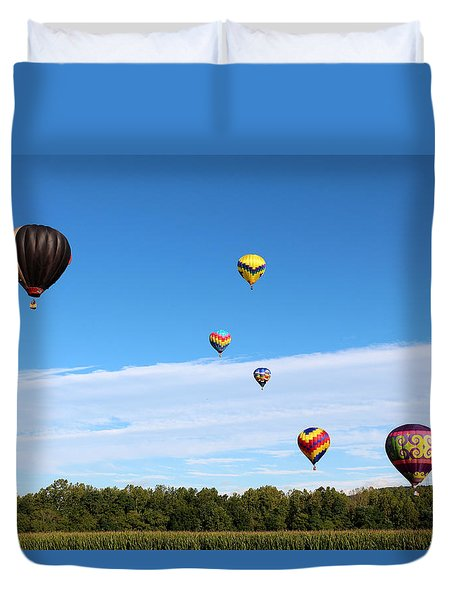 Up Up And Away Duvet Cover by George Jones
