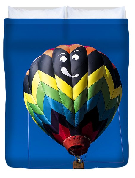 Up Up And Away In My Beautiful Balloon Duvet Cover by Edward Fielding