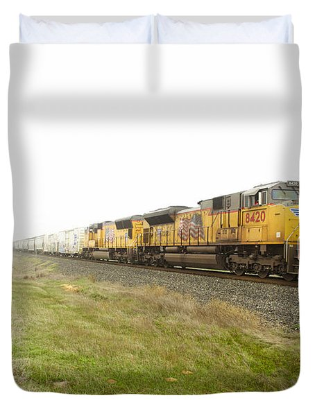 Duvet Cover featuring the photograph Up8420 by Jim Thompson