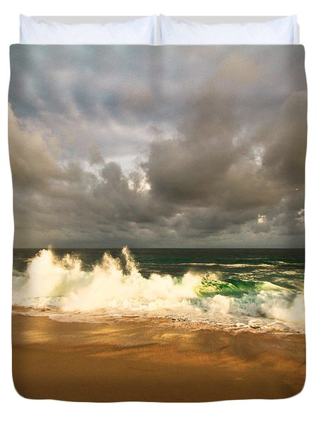 Duvet Cover featuring the photograph Upcoming Tropical Storm by Eti Reid