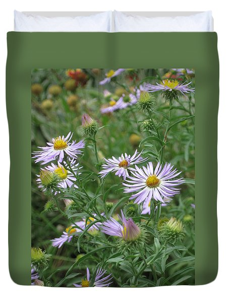 Uplifted Asters Duvet Cover
