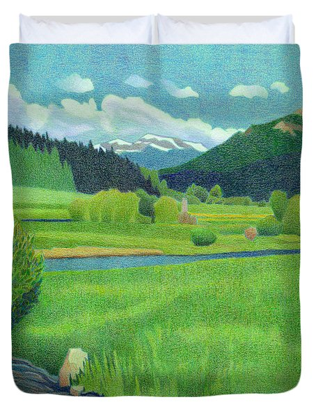 Upper Bear Creek Colorado Duvet Cover