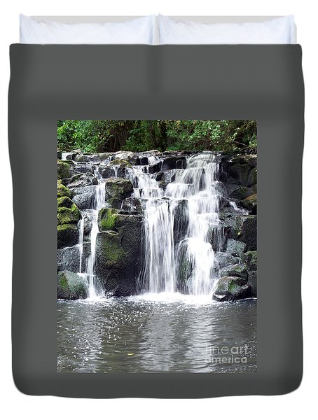 Duvet Cover featuring the photograph Upper Beaver Falls by Chalet Roome-Rigdon
