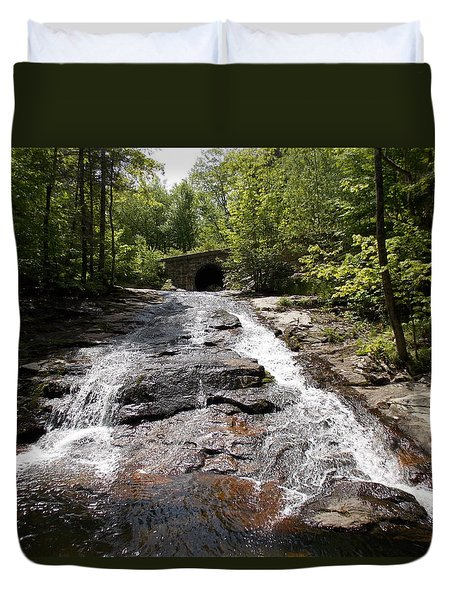 Upper Chapel Brook Falls Duvet Cover