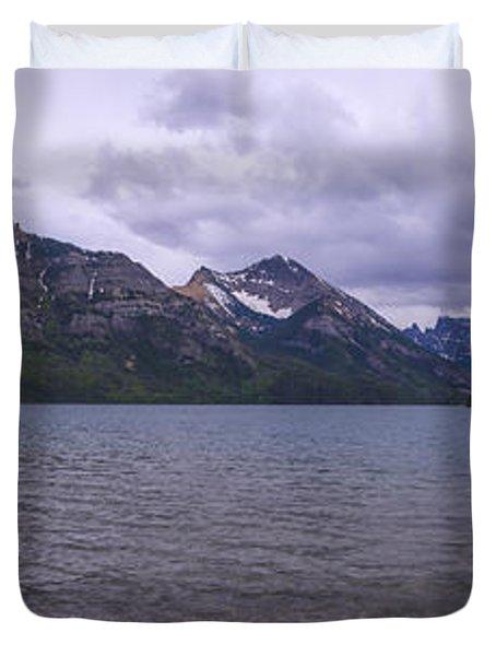 Upper Waterton Lake Duvet Cover by Chad Dutson
