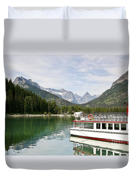 Duvet Cover featuring the photograph Upper Waterton Lakes by Teresa Zieba