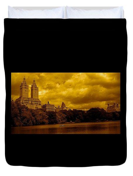Upper West Side And Central Park Duvet Cover by Monique Wegmueller