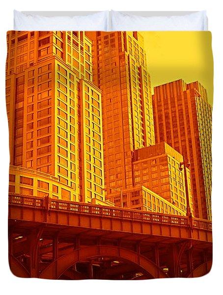 Upper West Side And Hudson River Manhattan Duvet Cover