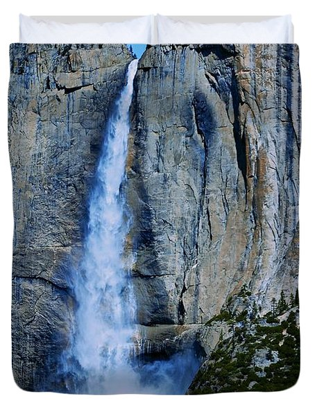 Upper Yosemite Falls Duvet Cover by Eric Tressler