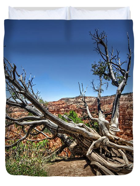 Duvet Cover featuring the photograph Uprooted - Bryce Canyon by Tammy Wetzel