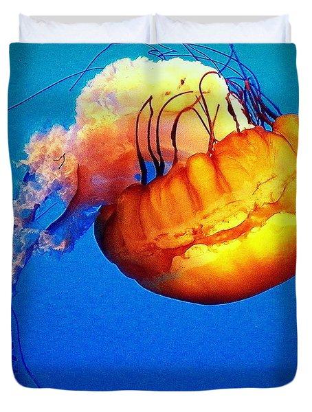Upside Down Jelly Duvet Cover by Faith Williams