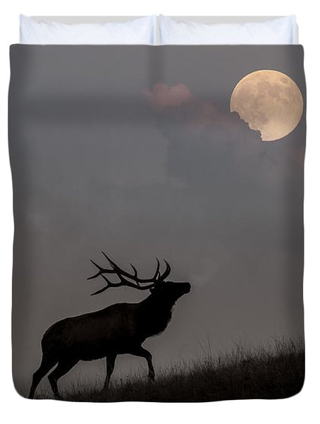 Upwardly Mobile - Yellowstone National Park Duvet Cover by Sandra Bronstein