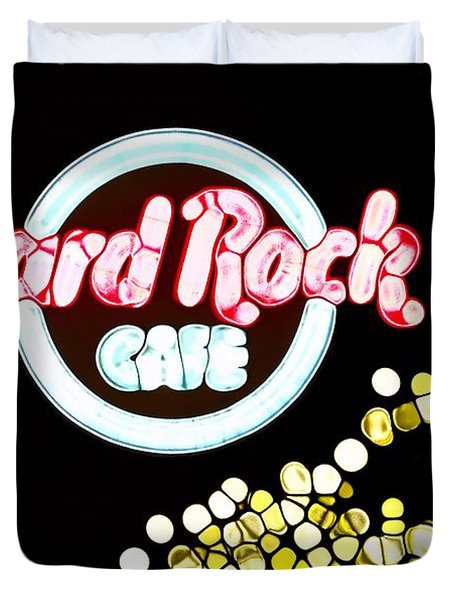 Urban Abstract Hard Rock Cafe Duvet Cover by Dan Sproul