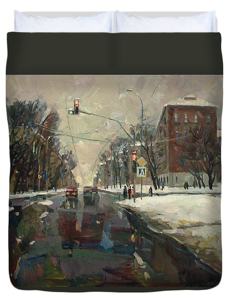 Urban Crossroad Duvet Cover