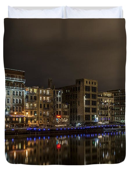 Urban River Reflected Duvet Cover