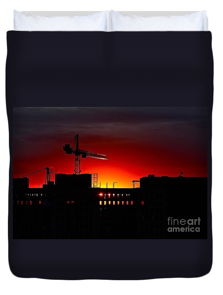 Urban Sunrise Duvet Cover by Linda Bianic