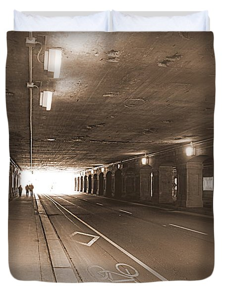 Urban Tunnel Duvet Cover by Valentino Visentini