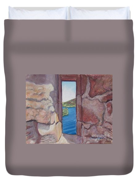 Archers' Window Urquhart Ruins Loch Ness Duvet Cover