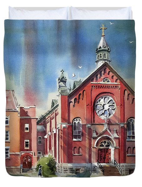 Ursuline Academy With Doves Duvet Cover