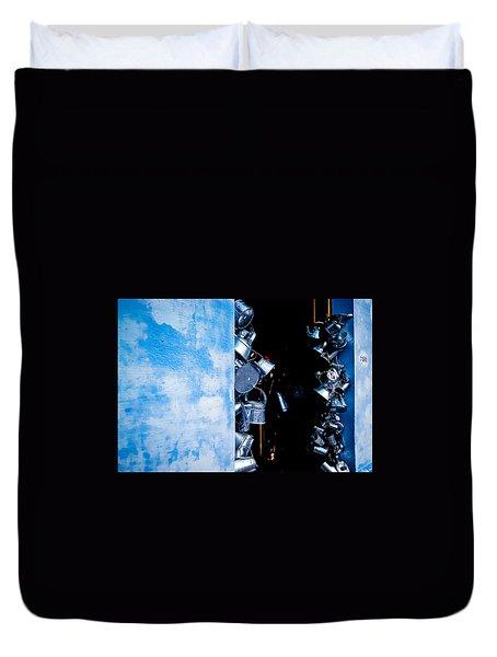 Uruguayan Tin  Duvet Cover by Cecil K Brissette