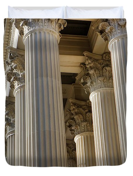 Us Archive Columns Duvet Cover