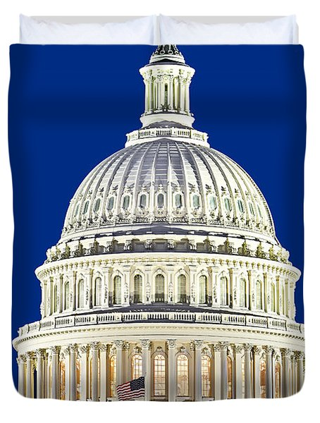 Us Capitol Dome Duvet Cover by Susan Candelario