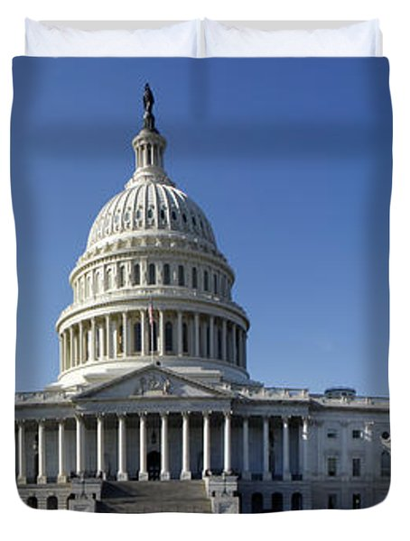 Us Capitol Panorama Duvet Cover