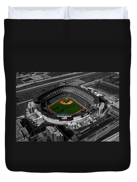 Us Cellular Field Chicago Sports 08 Selective Coloring Digital Art Duvet Cover by Thomas Woolworth