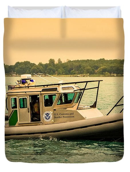 U.s. Customs Border Patrol Duvet Cover