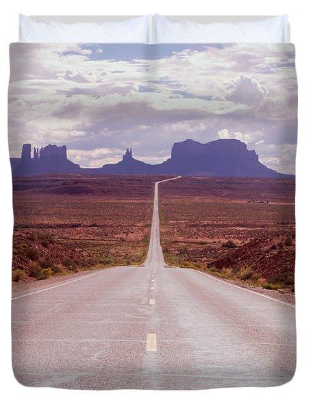 Us Highway 163 Duvet Cover