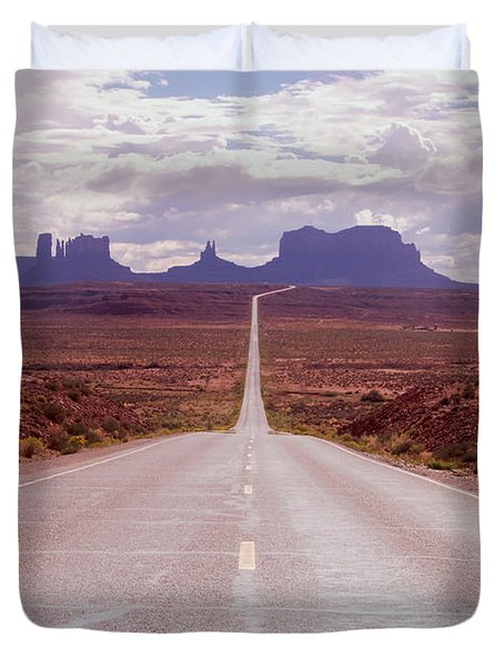 Us Highway 163 Duvet Cover