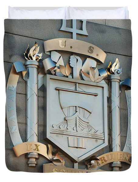 Us Naval Academy Insignia Duvet Cover