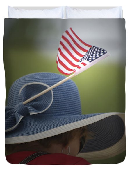 Usa Flags 04 Duvet Cover by Thomas Woolworth