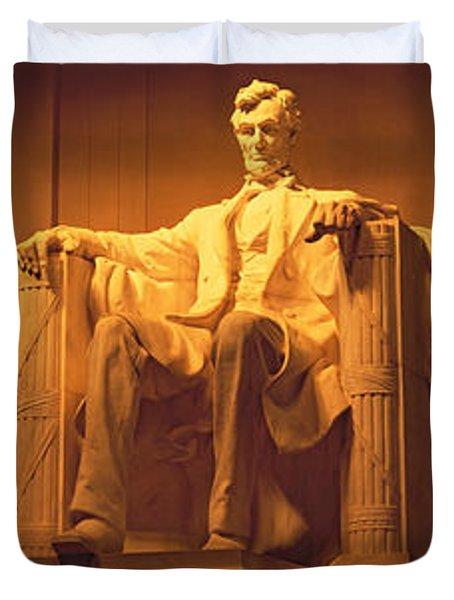 Usa, Washington Dc, Lincoln Memorial Duvet Cover