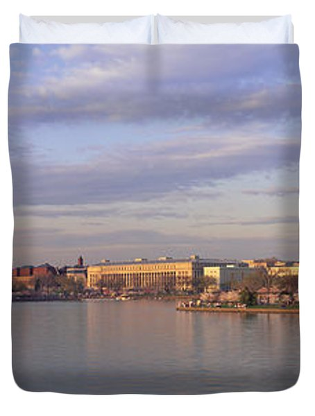 Usa, Washington Dc, Tidal Basin, Spring Duvet Cover by Panoramic Images
