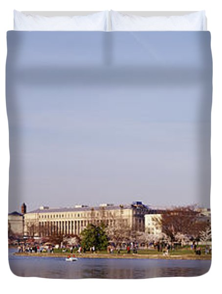 Usa, Washington Dc, Washington Monument Duvet Cover by Panoramic Images