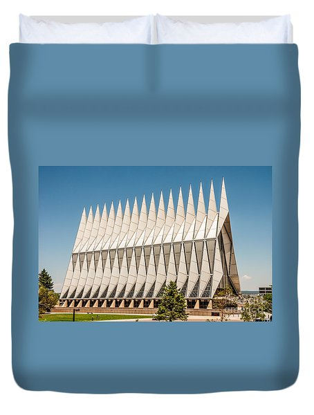 Air Force Academy Chapel Duvet Cover by Sue Smith