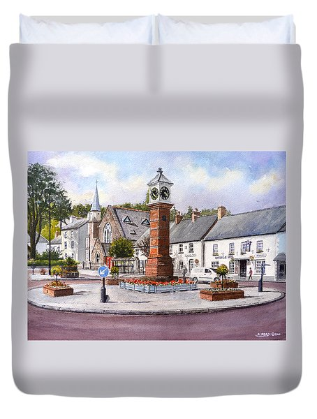 Usk In Bloom Duvet Cover by Andrew Read
