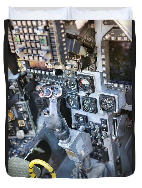 Usmc Av-8b Harrier Cockpit Duvet Cover