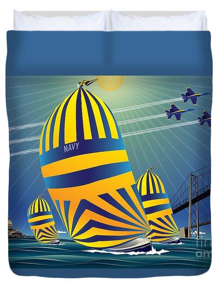 Usna High Noon Sail Duvet Cover
