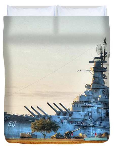 Uss Alabama Duvet Cover by Michael Thomas