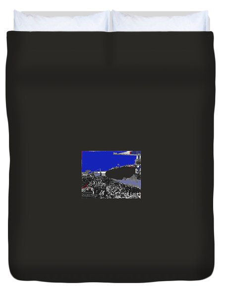 U.s.s. Arizona  Launch June 19 1915 New York Navy Yard 1915-2013 Duvet Cover