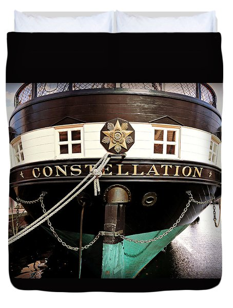 Uss Constellation Duvet Cover